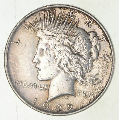 Early - 1922 - Peace Silver Dollar - 90% US Coin *774