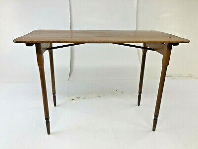 Vintage WOOD FOLDING SEWING TABLE Wooden Paris country primitive rustic 19466