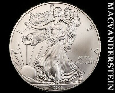 2009 American Silver Eagle 1 Ounce-Ch Gem Brilliant Unc!! No Reserve!! #f3413