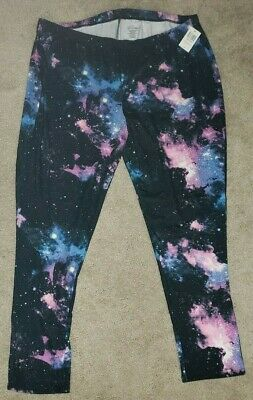 607aa714483 NEW Galaxy Leggings Plus Size 4x 5X Womans Stretch Pants 26 28 30  BlackHeart NWT