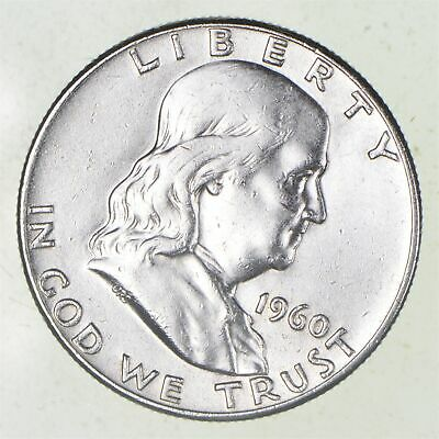 Higher Grade - 1960 - RARE Franklin Half Dollar 90% SIlver Coin *831