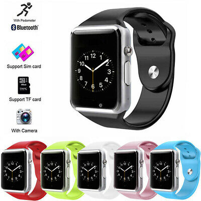 A1 BT Smart Watch SIM Card Phone Cam Anti-loss Fitness Tracker For Android iOS