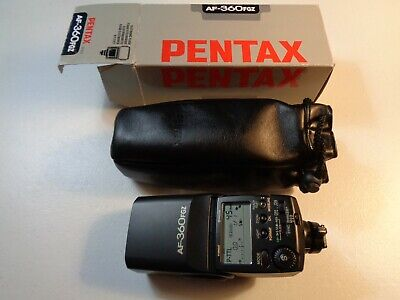 Estate Pentax AF360FGZ Camera Flash with Box and Manual Tested Works Great EUC