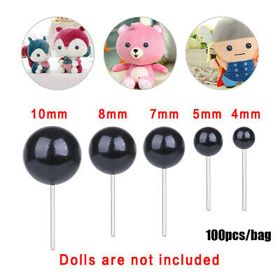 Black Glass Eyes Dolls Accessories Animals Puppets making Bears Needle Felting
