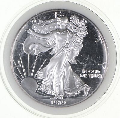 PROOF - NICE - 1989-S American Silver Eagle - DEEP CAMEO Proof - Rare *786