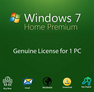 Windows 7 Home Premium Key Activation for Both 32-64 Bit Genuine