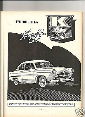 Rta Revue Technique Automobile 1953 - Kaiser Henry J + Pompe Pm Citroen T45