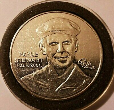 1 oz 999 Fine Silver Payne Stewart 2001 PGA Tour Partners Club Tour Hall of Fame
