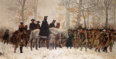 Handmade Oil Painting repro GEORGE WASHINGTON March to Valley Forge
