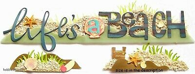 Ek Success Jolee's Boutique 3-D Stickers Holidays Vacation Shells Life's A Beach