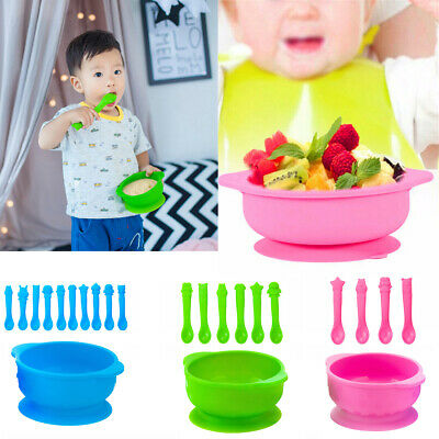 Baby Kids Feeding Silicone Mat Suction Table Food Tray Placemat Plate Bowl New