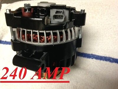 High amp Ford F 350 F 450 super duty Alternator 2005 2006 2007 diesel 6.0L black
