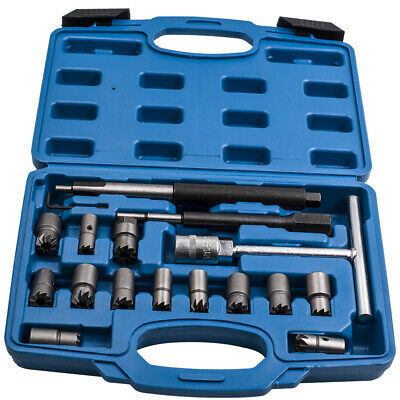 Universal 17pc Diesel Injector Tools Kit for Seat Cutter Cleaner for BMW Ford