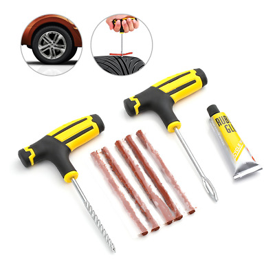 Emergency Car Van Motorcycle Tubeless Tyre Puncture Repair Kit 30 Strings Strips