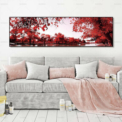 Red Leaves Forest Landscape Canvas Painting Poster Wall Art Picture Home Decor