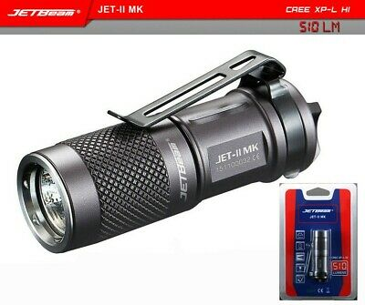 JETbeam Portable 510 Lumens JET II MK XPL HI LED Flashlight  Waterproof Torch
