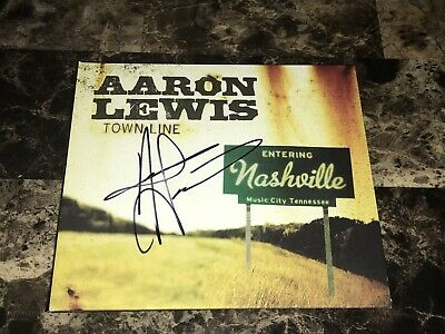 Aaron Lewis Rare Hand Signed Town Line EP CD Country Music 1st Press Staind COA