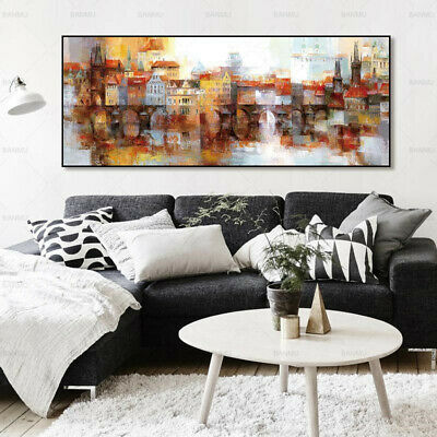 Abstract Landscape Canvas Painting Poster Wall Art Picture Home Decor