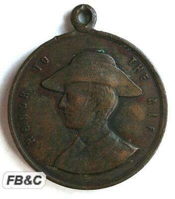 1918 ANZAC Day Medal - Honour to the AIF - Gallipoli France Palestine