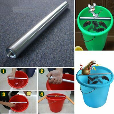 Log roll bucket mouse trap rodent stainless steel carbon twist rotating for rats