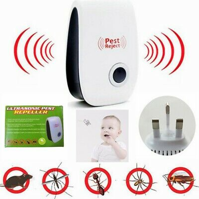 Ultrasonic Pest Control Repeller Reject Rat Mouse Mice spider Bug Mosquito Flea