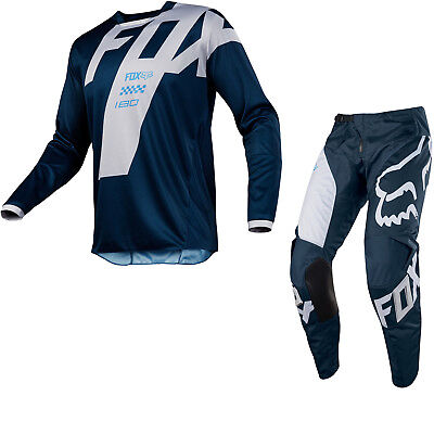 Fox 180 Mastar Navy Motocross MX Offroad Jeans Shirt - Adult sizes available