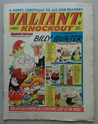 Valiant and Knockout comic CHRISTMAS 1963 - 21 Dec GREAT COVER VG+ (phil-comics)