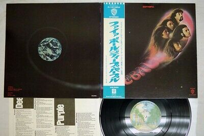 DEEP PURPLE FIREBALL WARNER P-10109W Japan OBI VINYL LP