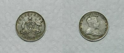 AUSTRALIA : 1910 SILVER THREEPENCE  - GOOD DETAIL - Nice Collectable Coin