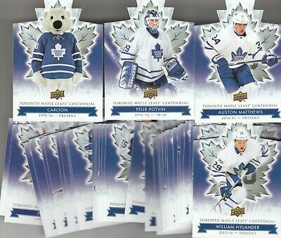 2017 Upper Deck Toronto Maple Leafs Centennial Hockey DIE CUT & HIGH # -YOU PICK