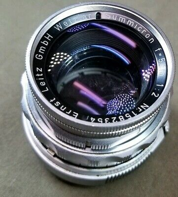 Leica 50mm (5CM) F 2 Summicron M Mount Lens #1582354