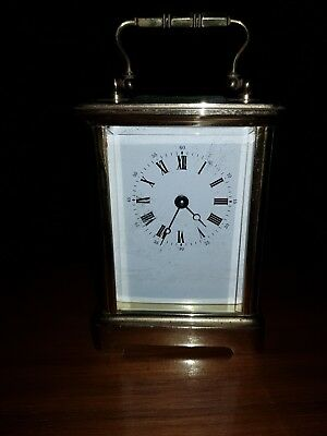 L'epee Timepiece Carriage Clock In Working Order + Key