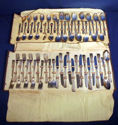 Wm. Rogers International Silverplate Louisiana 52 pcs. Silverware Flatware Set
