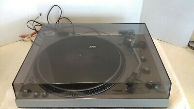 VTG Technics SL-1300 Direct Drive Automatic Turntable With Dust Cover Works Good