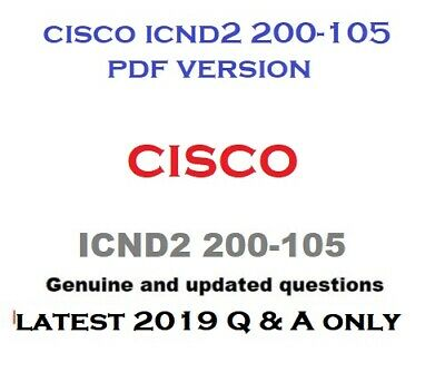 ICND2 200-105 actual exam questions and solutions
