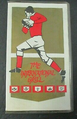 Vintage CITICENTA INTERNATIONAL GRILL MENU With Rugby Cover