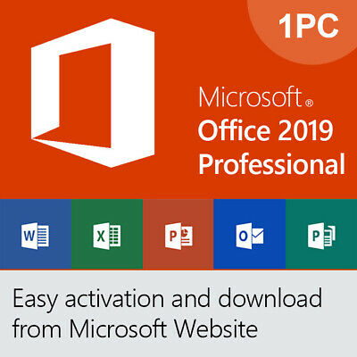 MICROSOFT MS OFFICE 2019 Professional Plus Download Link & 1