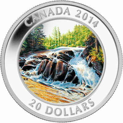 "2014 RCM   ""River Rapids"" Colorized Proof $20 Silver Coin"
