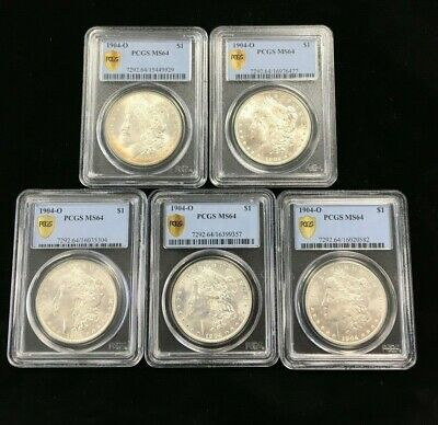 1904-O Morgan Dollar PCGS MS64 LOT OF 20 COINS! NR Free Shipping