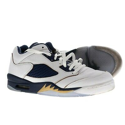grand choix de 3fd7a 582f1 NIKE AIR JORDAN Rétro 5 Basse Dunk From Above Oro Blu Navy Bianco Taglia 11