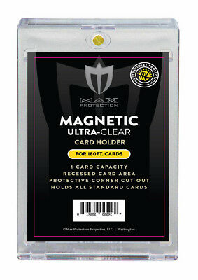 20 MAX PRO Ultra One Touch Magnetic Thick Card Holders 180pt UV Gold Magnet