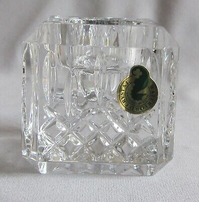 """Square Votive Candle Holder Candlestick Waterford Crystal Lismore Pattern 2 5/8"""""""