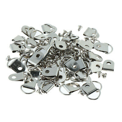 50pack D-Rings + Screws Hangers Clips Hanging Hooks for Picture Photo Frames