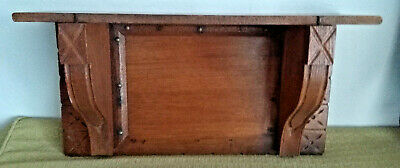 "EASTLAKE Antique vtg Wood Hanging Wall CLOCK SHELF~Victorian Aesthetic 19""x10"""