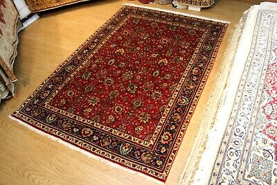 """6'6"""" x 9'5"""" Persian Rug Tribal Traditional Handmade red Color ONLY ONE AVAILABLE"""