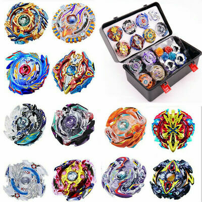 12X SET Launchers Beyblade Burst Toys Metal God Spinning Tops Bey Blades + Box