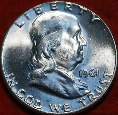 Uncirculated 1961 Philadelphia Mint Silver Franklin Half