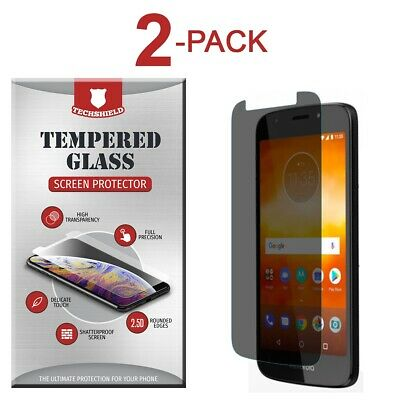 2-Pack Privacy Tempered Glass Screen Protector For Motorola Moto E5 Play