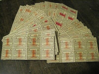432 B&W Brown Williamson Raleigh Belair tobacco coupons - 54 panels of 8 (1960s)