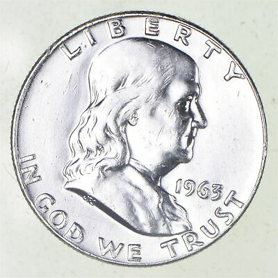 Higher Grade - 1963-D - RARE Franklin Half Dollar 90% SIlver Coin *859